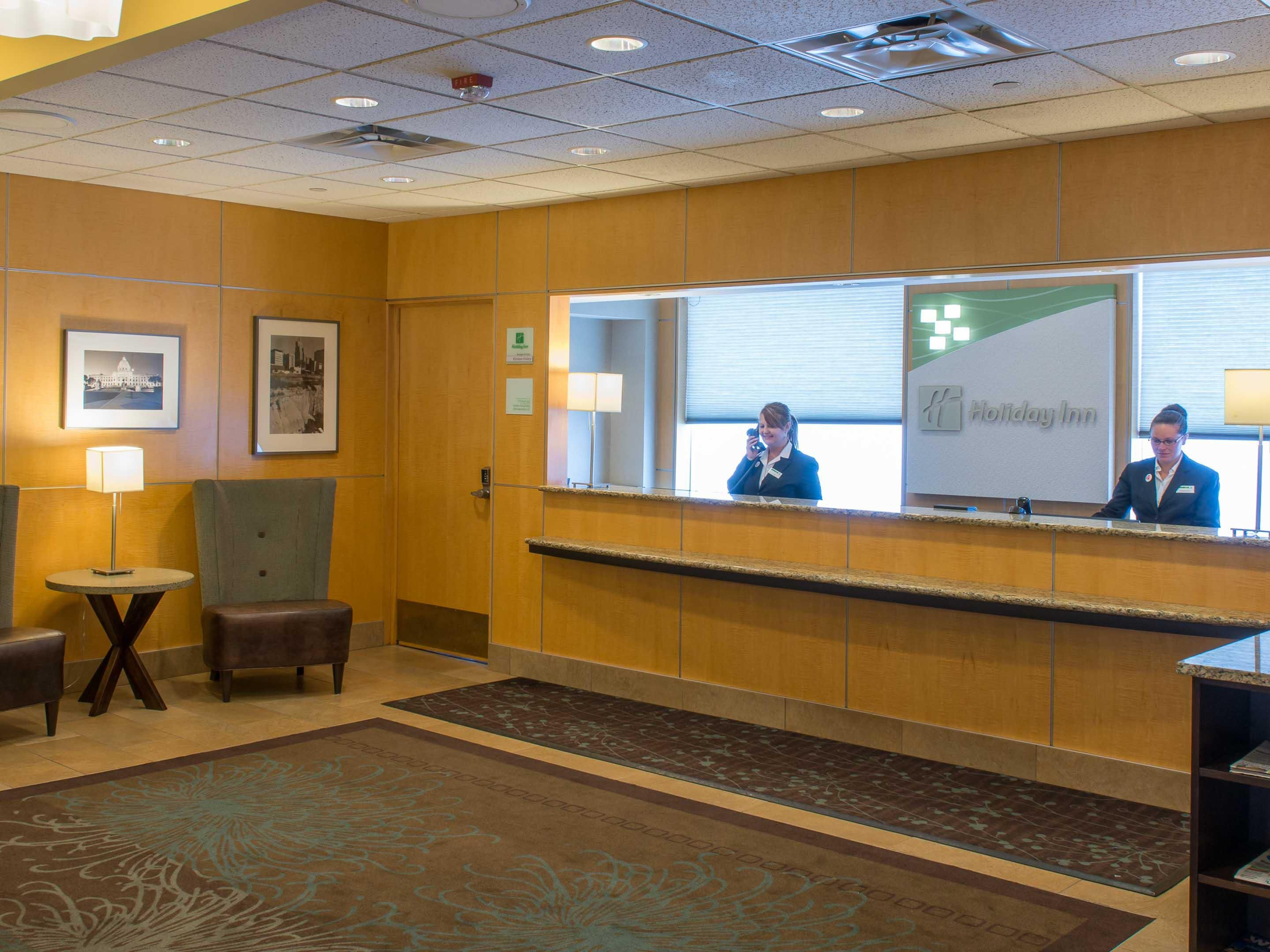 Our knowledgeable Front Desk staff is available 24 hours.