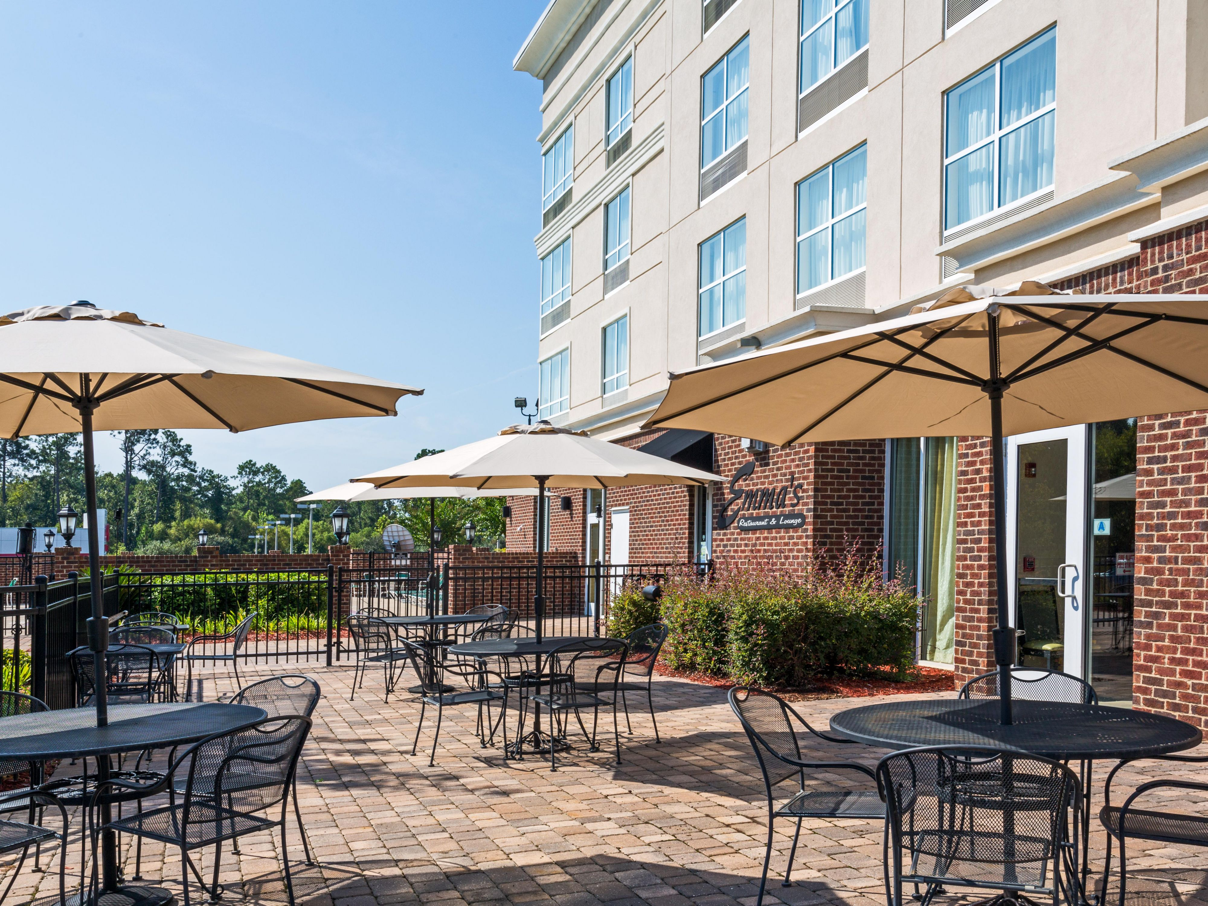 Savor your breakfast on our spacious Patio