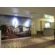 Artsy hotel lobby