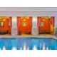 Relax pool-side in one of our comfortable cabanas