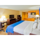King Bed Guest Room with Kitchenette is great for long term stays!