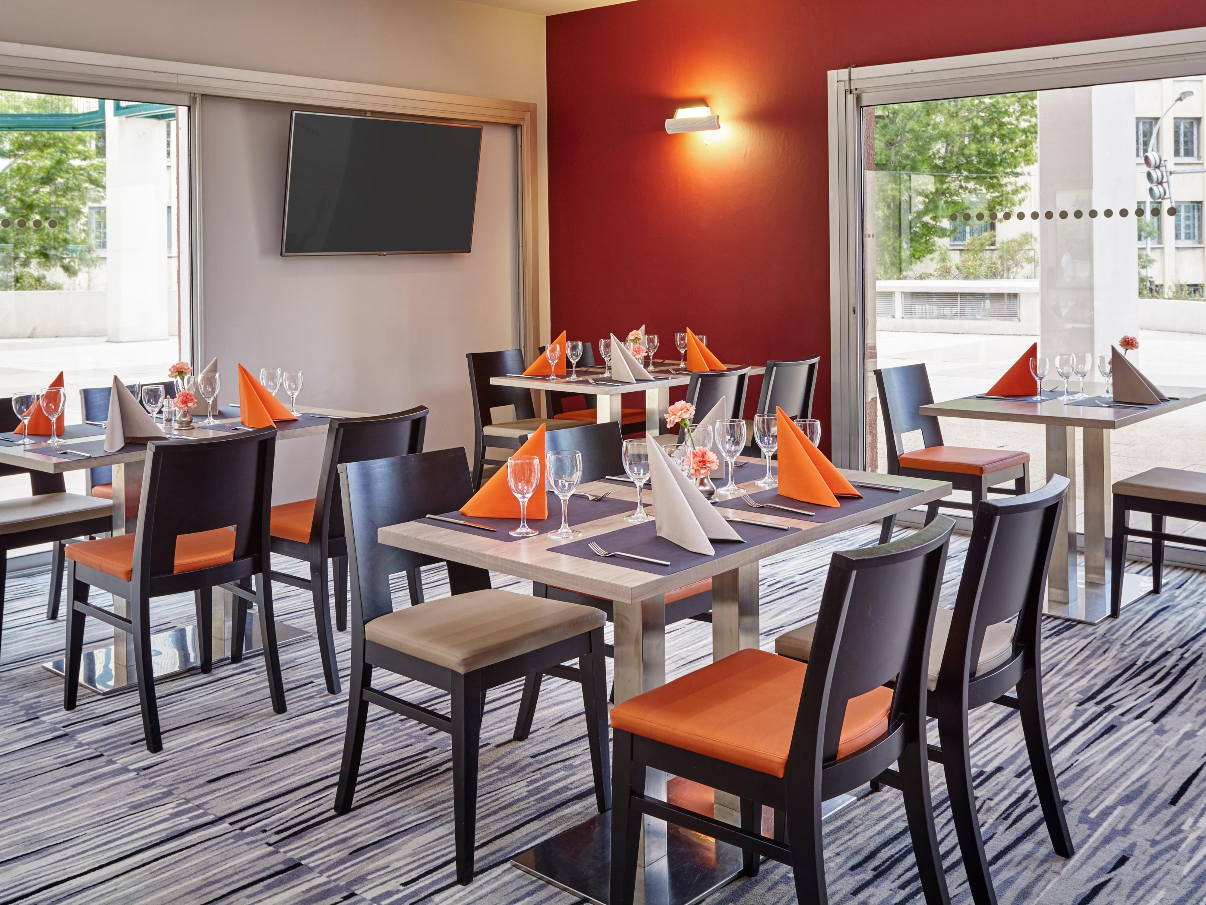Dine with us in our stylish L'Observatoire Restaurant