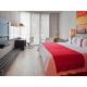 Habitación con cama king site de fumar
