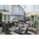 Sunny beer garden