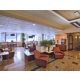 Hotel lobby by restaurant