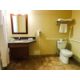 Handicap Accessible Single Queen Guest Room Bathroom