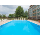 Our outdoor pool is open from May-September at the Holiday Inn.
