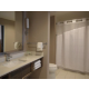 Standard bath - combination shower and bath tub, toilet and vanity