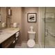 Standard 3 piece bath with shower only in rooms with King size bed