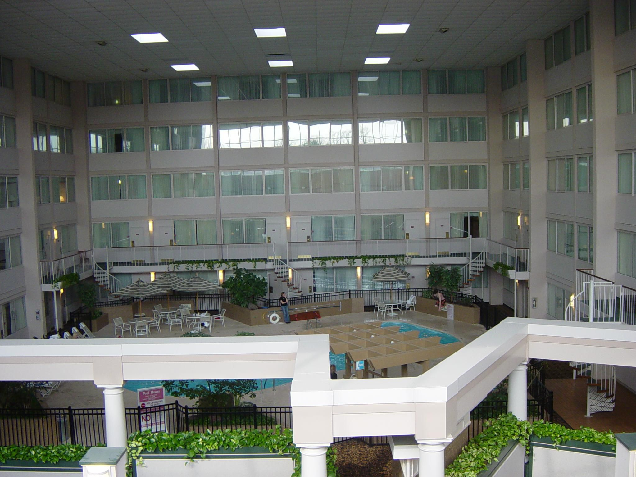 A glance of our 266 room hotel with indoor pool