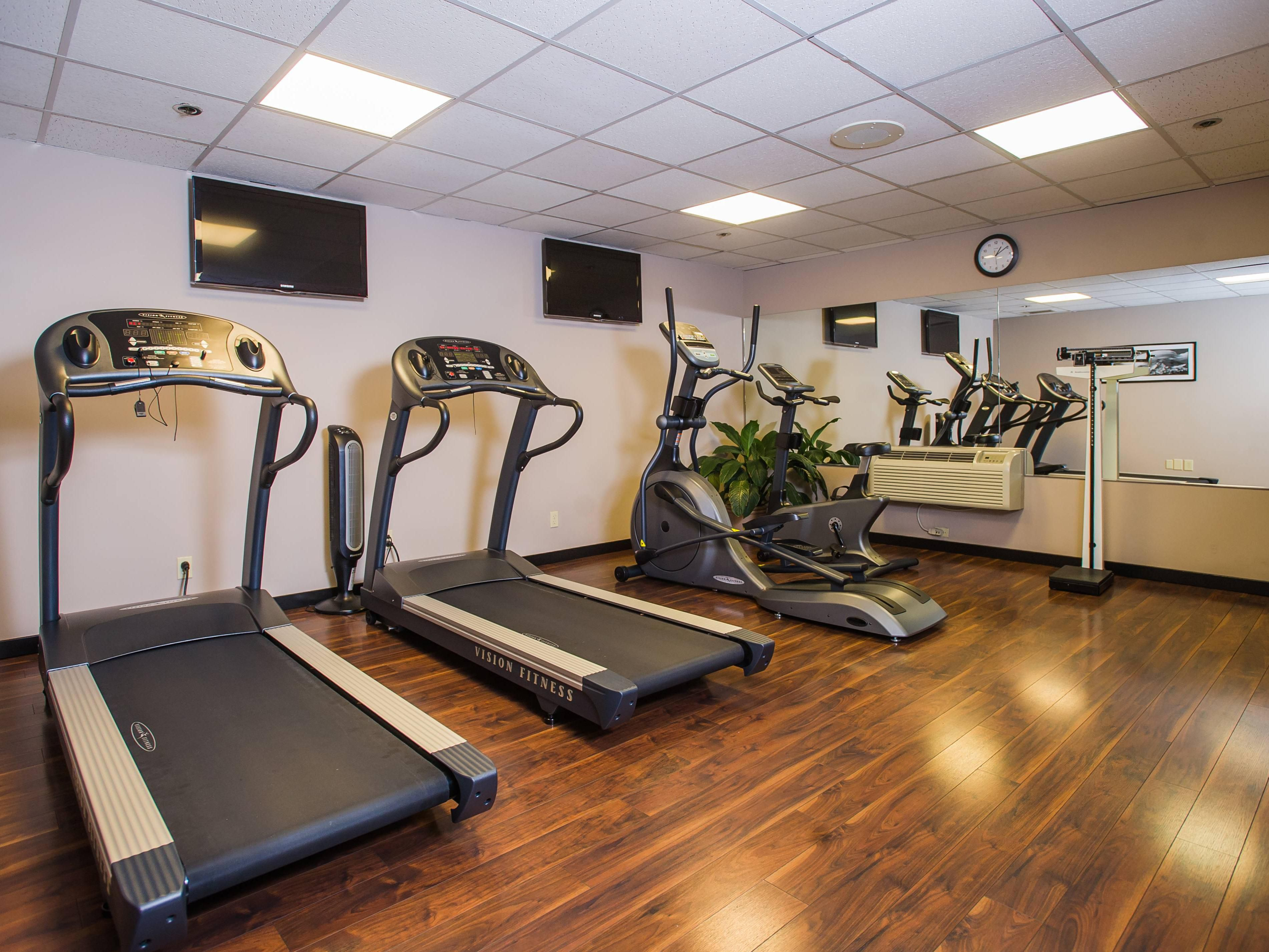 Enjoy your work out anytime in our 24-hour Fitness Center