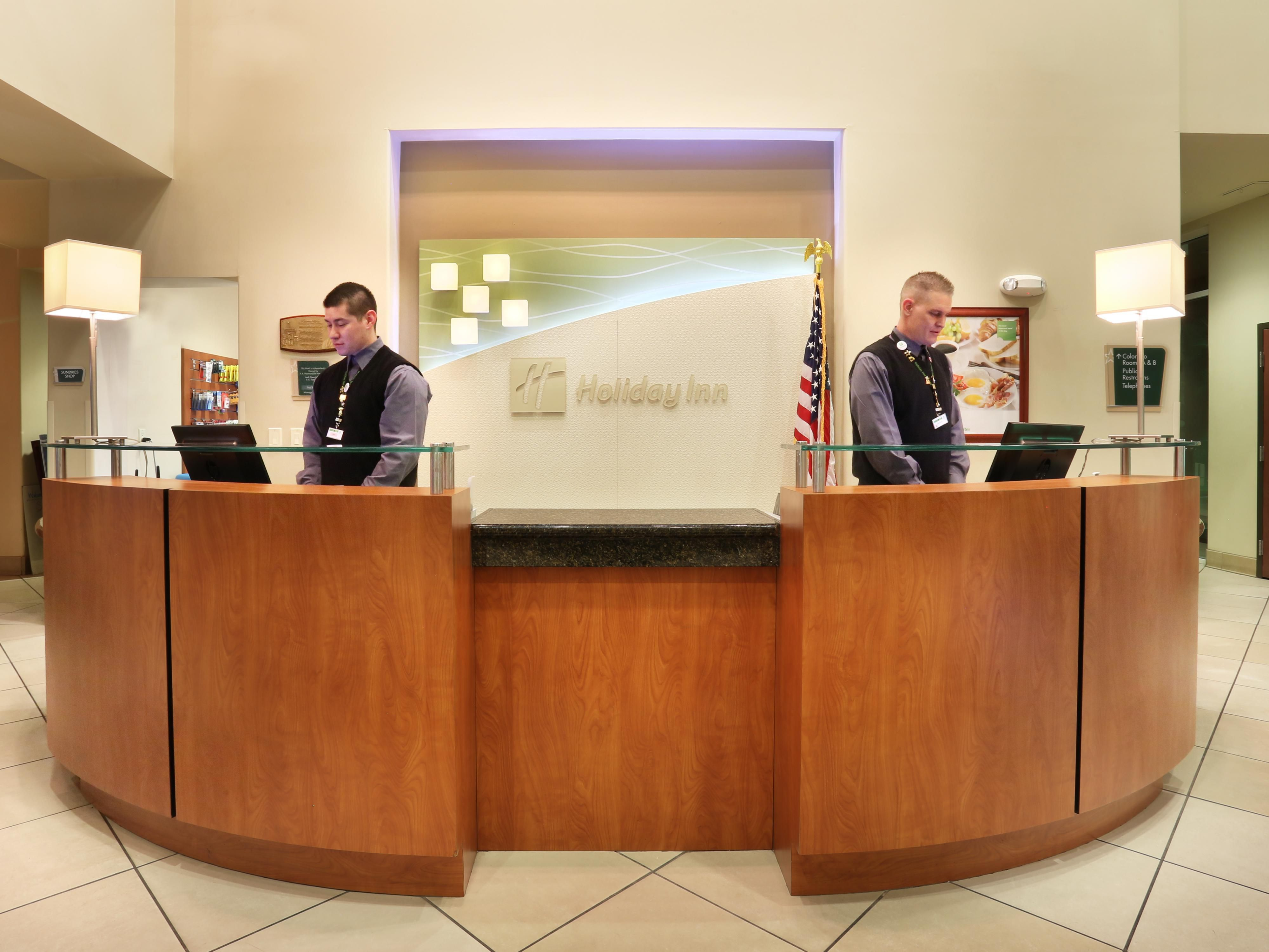 Our Front Desk staff is ready and willing to assist you