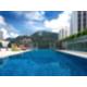 Infinity glass bottomed pool