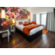 Double bed room with selection of complimentary snackbar items