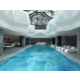 Indoor swimming pool with skylights to the courtyard
