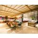 Vibrant restaurant with open kitchen