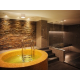 Health Club spa area with jacuzzi, steamroom and horizontal shower