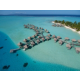 Overwater bungalows and surroundings