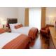 Two Single Beds with Hardwood Floor