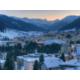 Blick auf Davos und das Bergpanorama