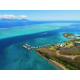 Aerial View on Resort grounds, the lagoon and Moorea