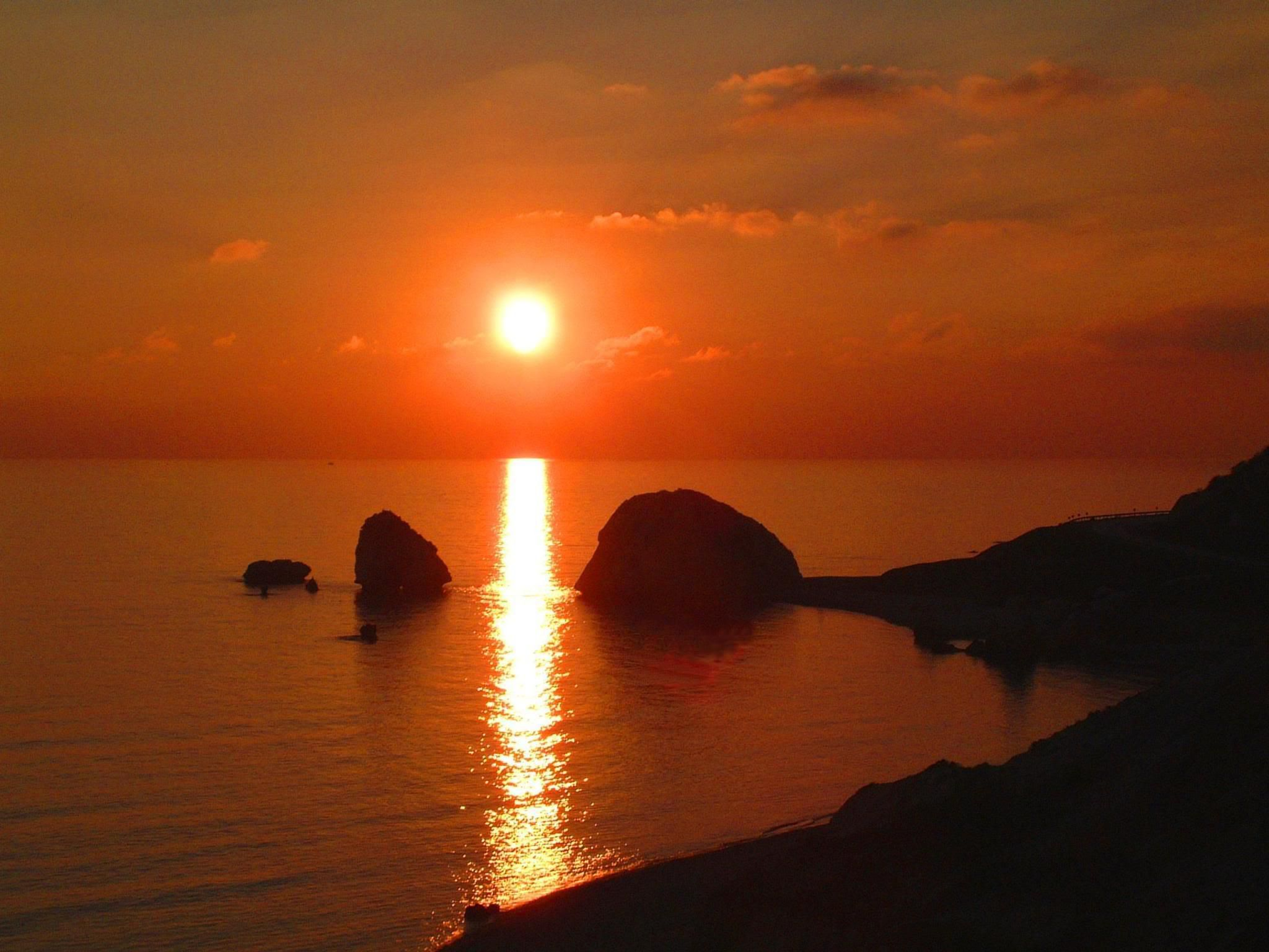 Sunset at Aphrodite's Rock