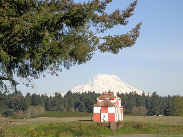 Mount Rainier from McChord Field