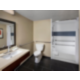 Newly built accessible bathroom.