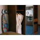 Quick look to the wardrobe of the room - bathrobe and iron board