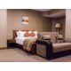 Large sleeping room in family suit is well designed to needs
