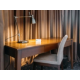 Decorative lamps on study tables provide smooth lighting all aroun