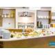 Design of the Breakfast Buffett in warm home kind atmosphere