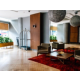 Feel the cozy atmosphere of the lobby overlooking the city center