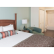 One Bedroom King Suite and Bathroom area