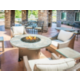 Patio with fire pit and gas grill