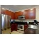 Full kitchen in room.