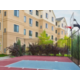 Enjoy a pick-up game at our outdoor basketball court