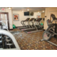 Stay fit on the road in the on-site fitness center.