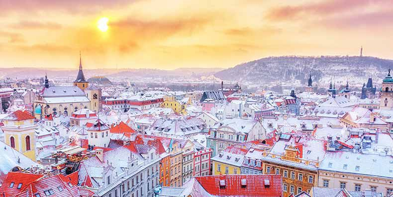 THE CITY OF A HUNDRED SPIRES IN PRAGUE