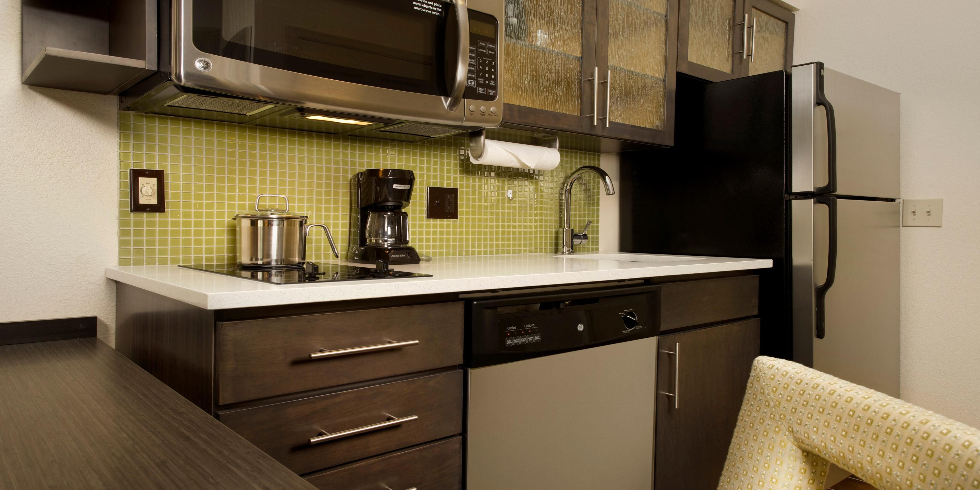 Hotel Lobby; Full Kitchen With Fridge, Stovetop, Microwave, Cookware U0026amp;  ...