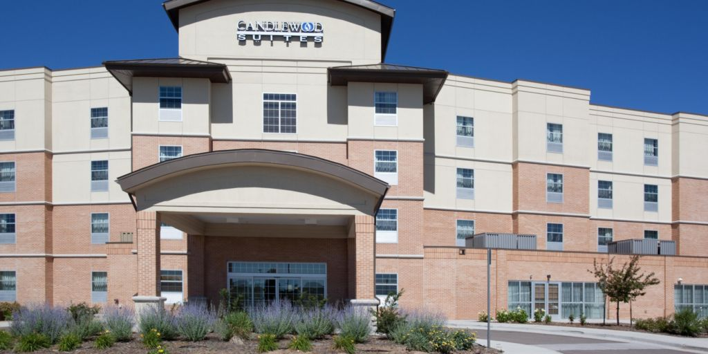 Candlewood Suites Hotel Exterior Offering A Covered Entree Way