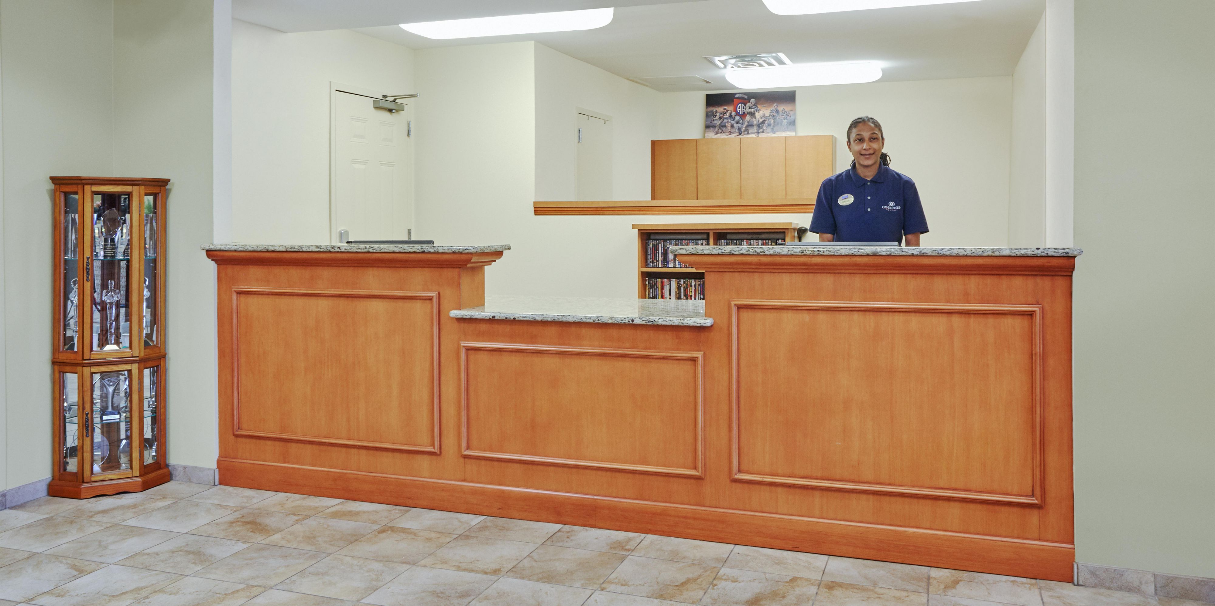Our Front Desk Staff Is Ready And Willing To Assist You!