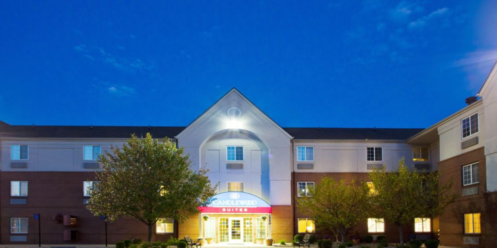 Candlewood Suites Troy Hotel Exterior At Night