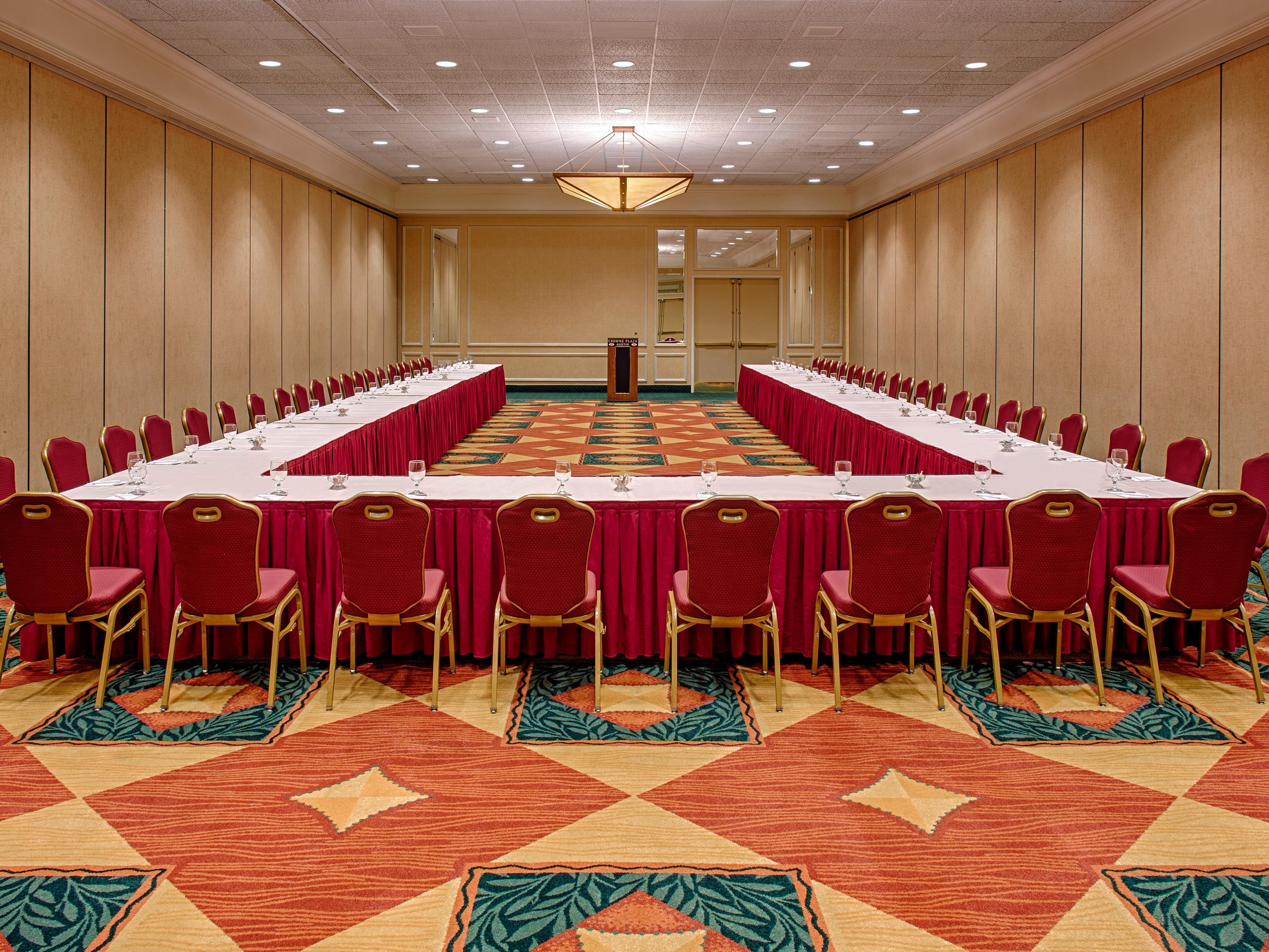 Groupsandmeetingsphotos Crowne Plaza Austin Ballroom Ushape Ihg Crowneplaza Ponents