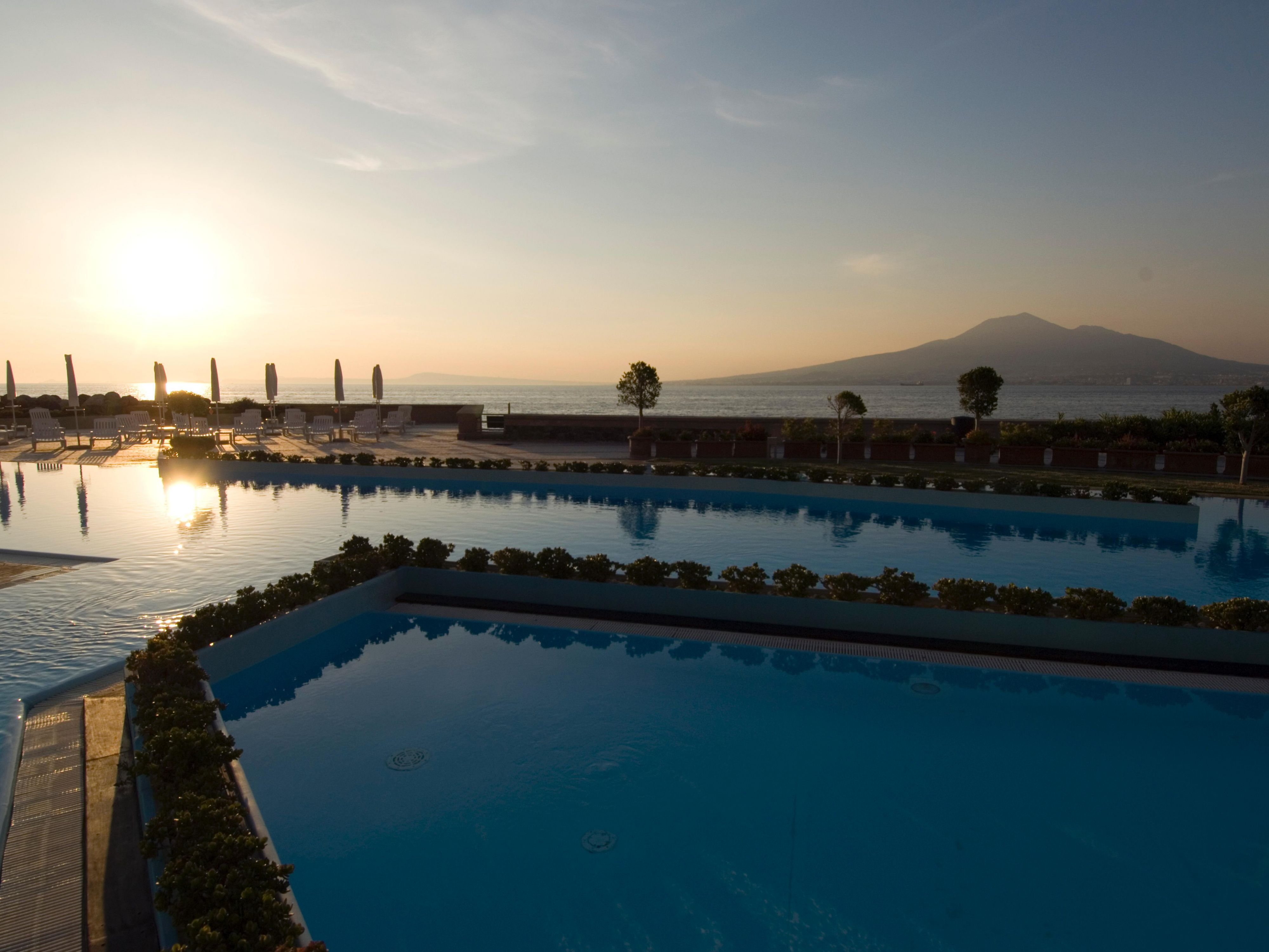Enjoy sunsets at our infinity pool with sea view