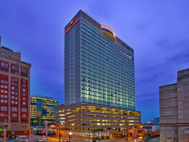 View Of The Crowne Plaza Kansas City Hotel From Downtown