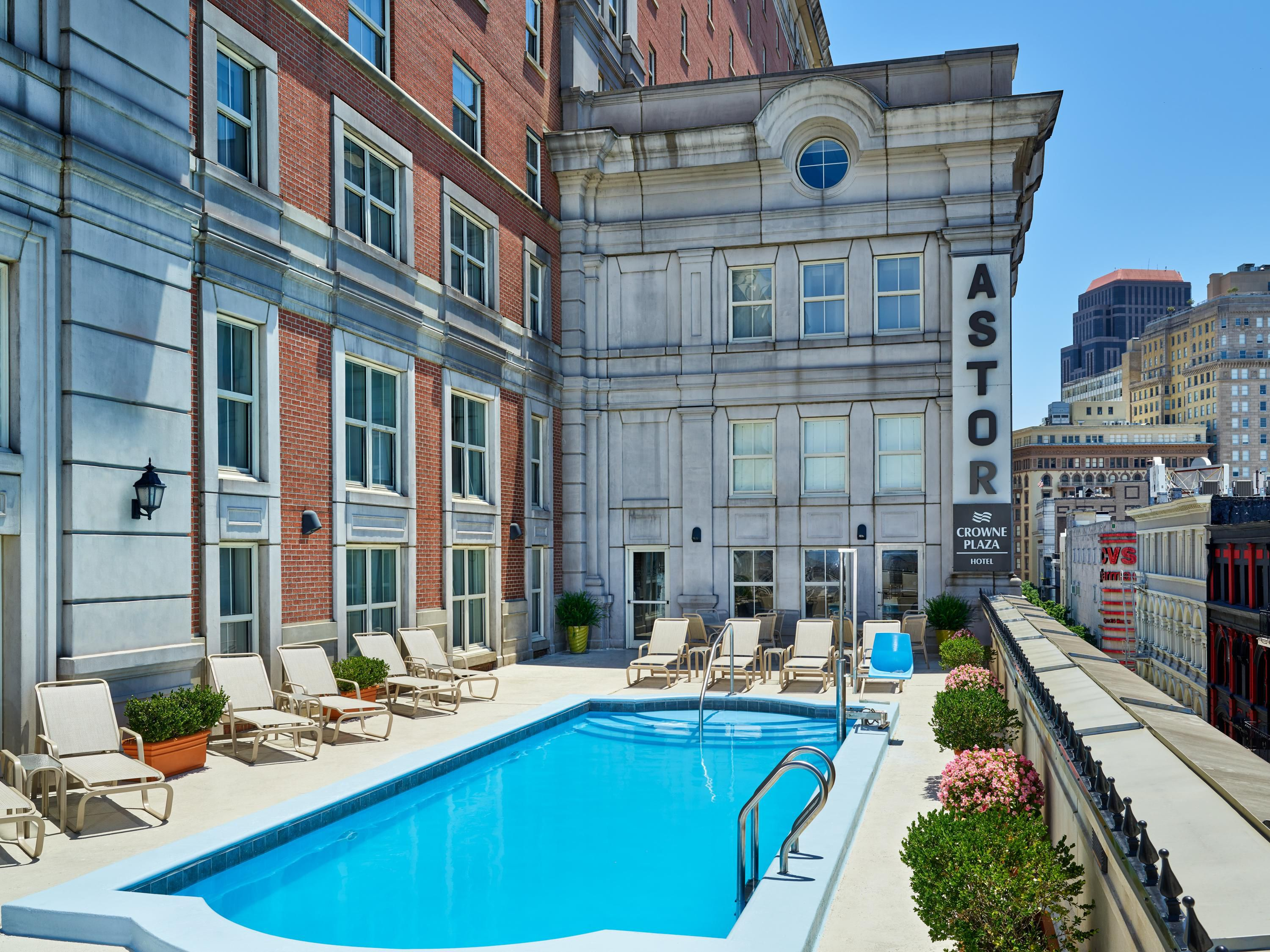 Hotel Outdoor Pool Overlooking Bourbon Street