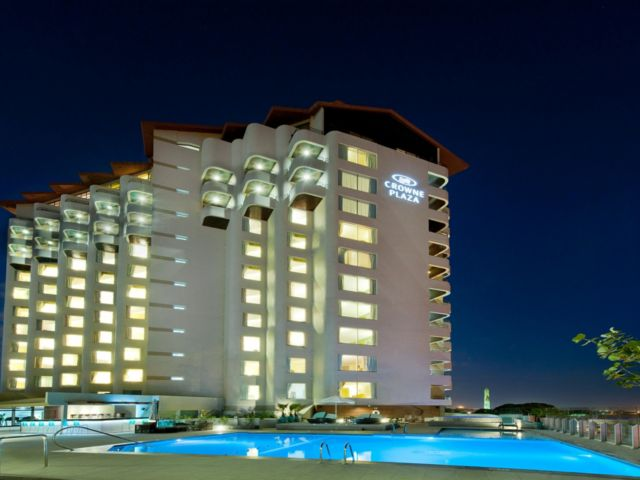 Hotel And Pool Area Night View