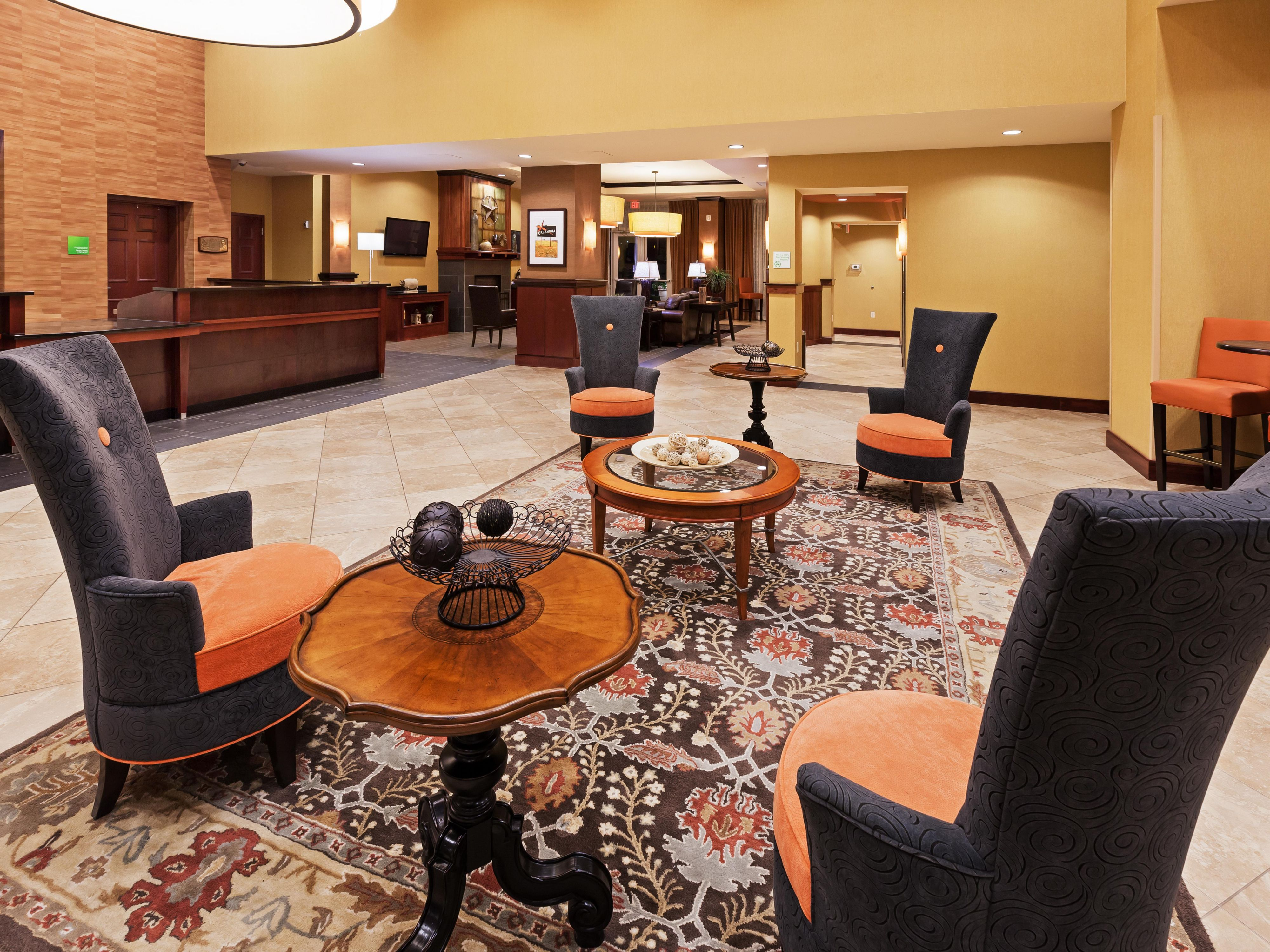 Kick back in our stylish Lobby
