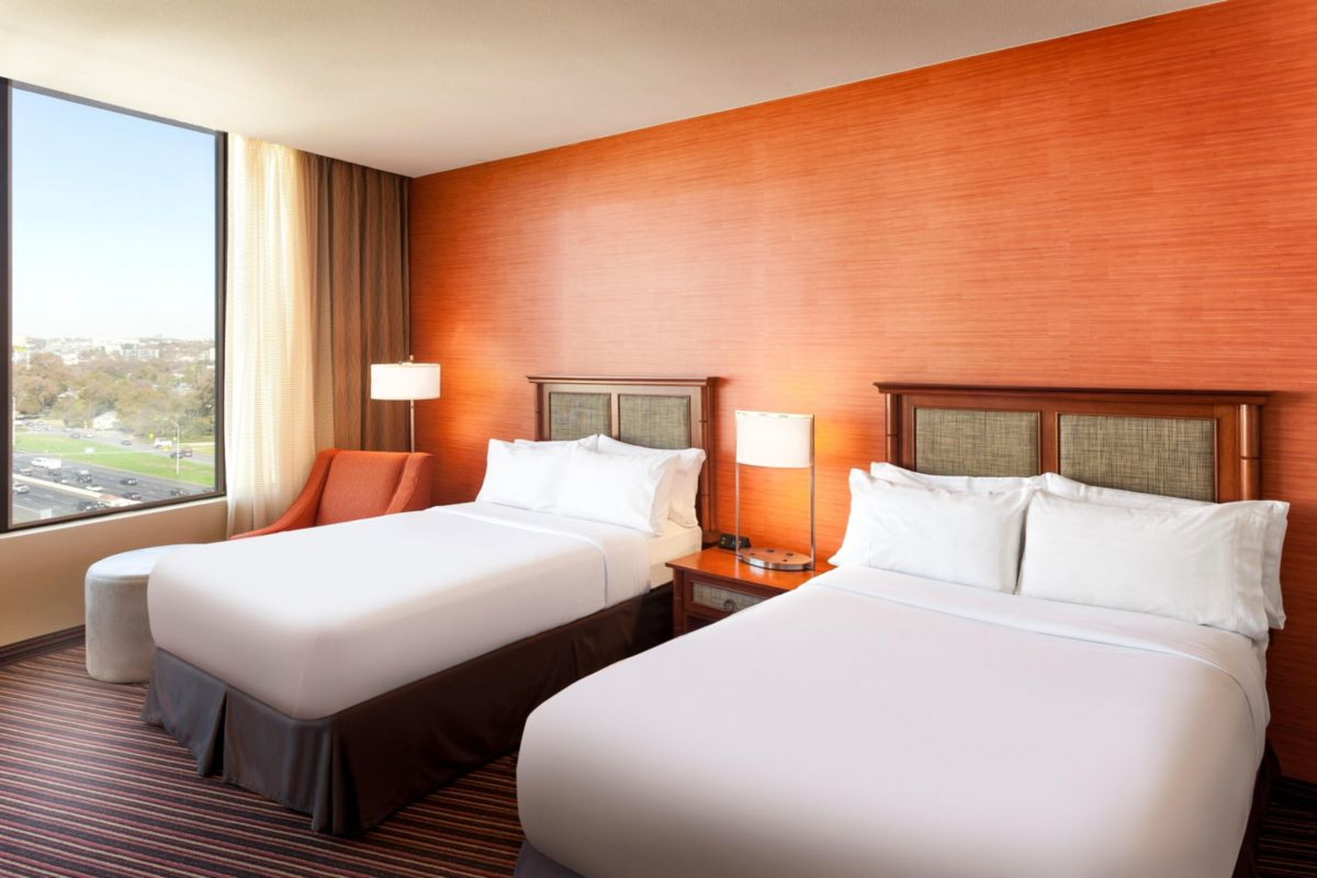 Our double bed accommodations are the perfect home away from home.
